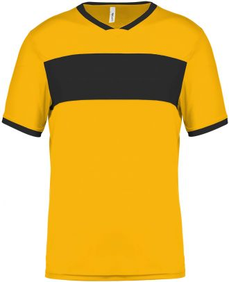 Maillot enfant polyester manches courtes PA4001 - Sporty Yellow / Black