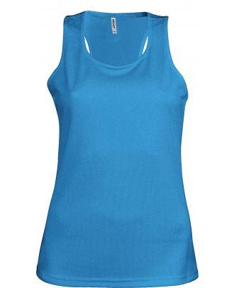Débardeur femme sport PA442 - Aqua Blue