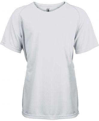 T-shirt enfant manches courtes sport PA445 - White