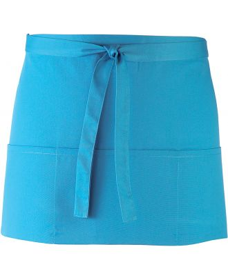 """Tablier taille """"Colours"""" 3 poches PR155 - Turquoise"""