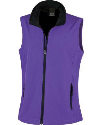 Bodywarmer Softshell Femme Printable R232F - Purple / Black