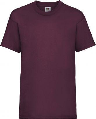 T-shirt enfant manches courtes Valueweight SC221B - Burgundy