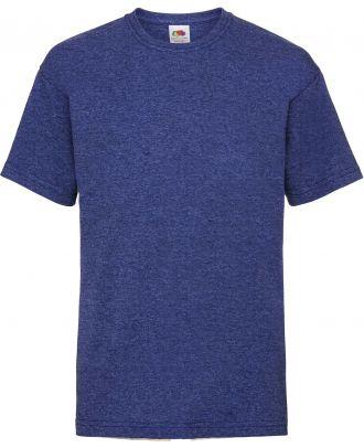 T-shirt enfant manches courtes Valueweight SC221B - Retro Heather Royal