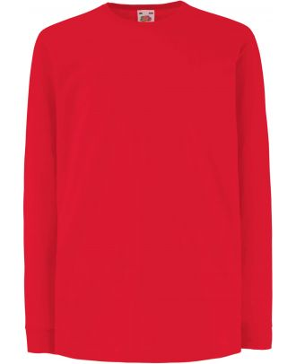 T-shirt enfant manches longues valueweight SC61007 - Red