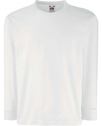 T-shirt enfant manches longues valueweight SC61007 - White