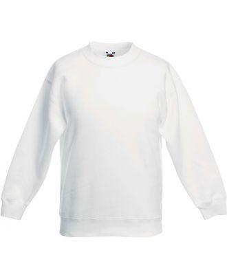 Sweat-shirt enfant col rond classic SC62041 - White
