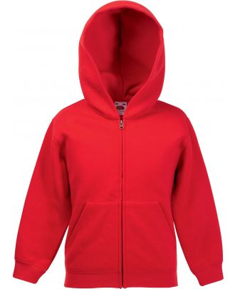 Sweat-shirt enfant zippé à capuche classic SC62045 - Red