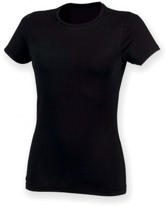 T-shirt femme col rond Feel Good SK121 - Black
