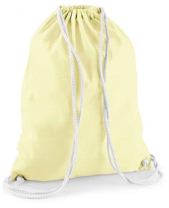 Gymsac en coton W110 - Lemon / White - 37 x 46 cm