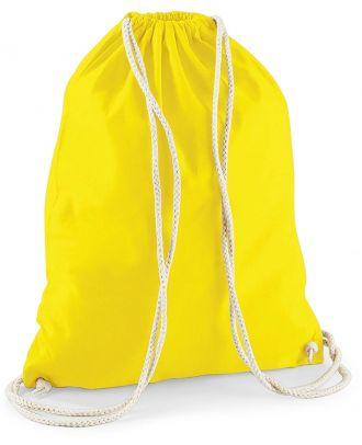 Gymsac en coton W110 - Yellow - 37 x 46 cm de dos