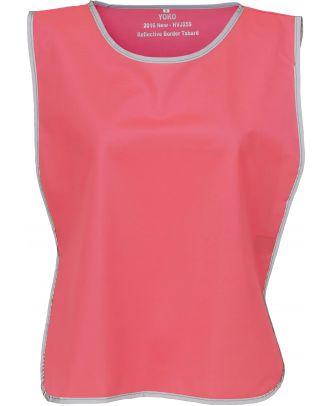 Chasuble à bordure réfléchissante HVJ259 - Fluo Pink