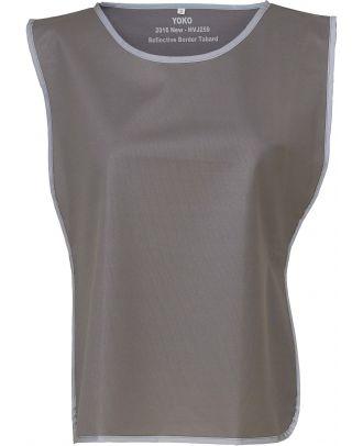 Chasuble à bordure réfléchissante HVJ259 - Grey