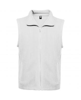 Veste polaire avec col montant et zip BELLAGIO blanc