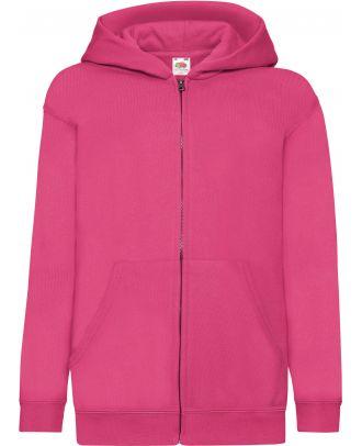 Sweat-shirt enfant zippé à capuche classic SC62045 - Fuchsia