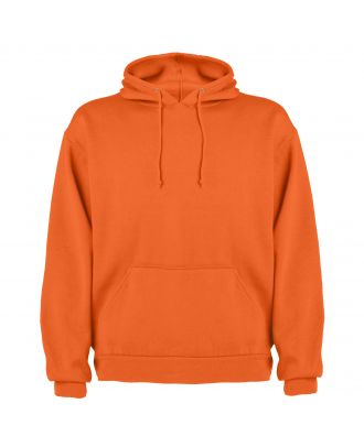 Sweat-shirt capuche avec poche kangourou CAPUCHA orange
