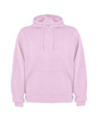 Sweat-shirt capuche avec poche kangourou CAPUCHA rose clair