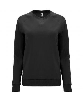 Sweat-shirt femme manches longues raglan ANNAPURNA WOMAN noir