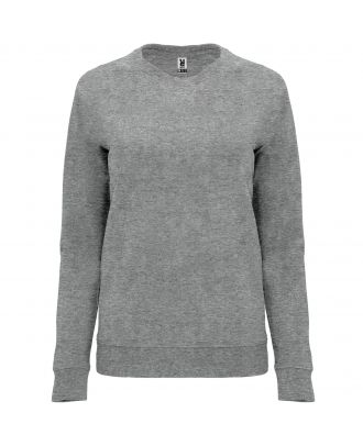 Sweat-shirt femme manches longues raglan ANNAPURNA WOMAN gris chiné